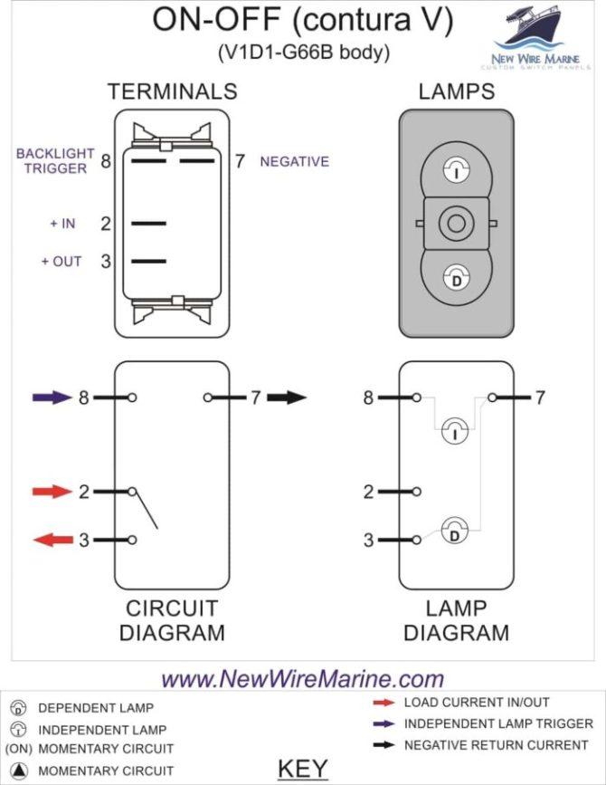4 pin rocker switch marine wiring diagram  3 way switch