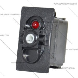 (ON)OFF(ON)   Marine Rocker Switch   Carling Red LED