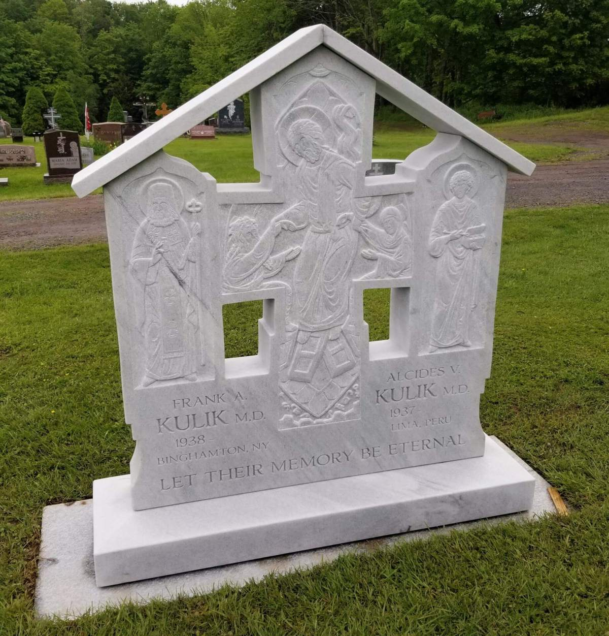 Grave Crosses and Burial Shroud