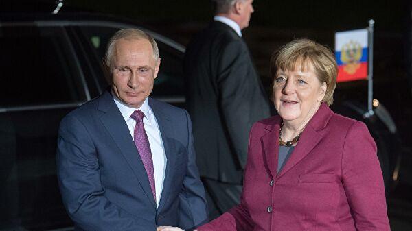 Путин и Меркель обсудят в Москве 11 января ситуацию на Ближнем Востоке