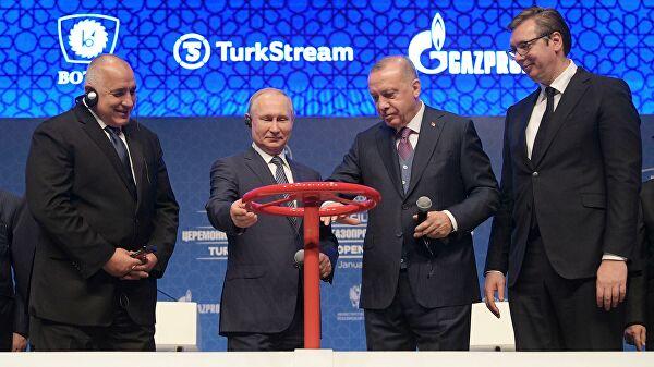 """В Совфеде заявили о провале США из-за открытия """"Турецкого потока"""""""