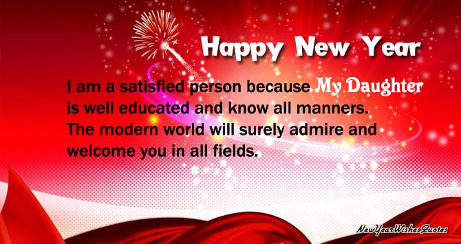 daughter new year wishes