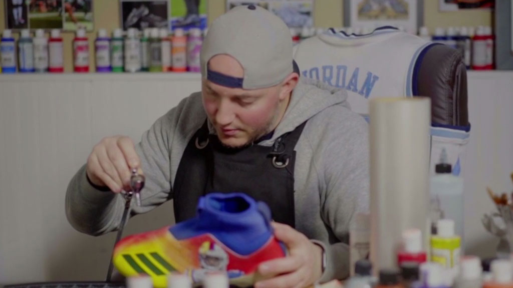 Snapshot NY: NJ Artist Realizing His Dreams By Designing Custom Cleats For NFL Stars