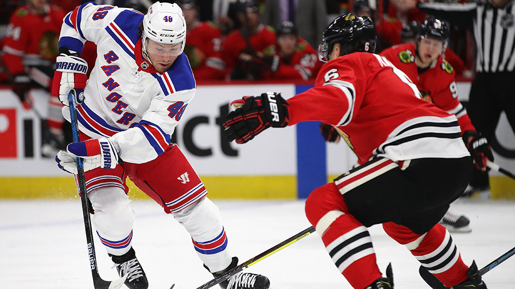 Rangers Score 5 Times In Third Period, Top Blackhawks