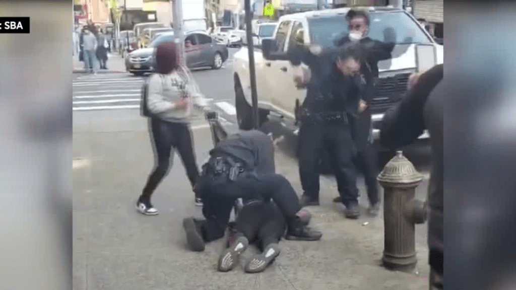 Seen On Video: NYPD Officer Sucker Punched While Making Arrest In The Bronx