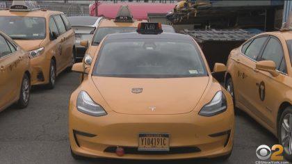 tesla yellow taxi cab new york city e1620081750835