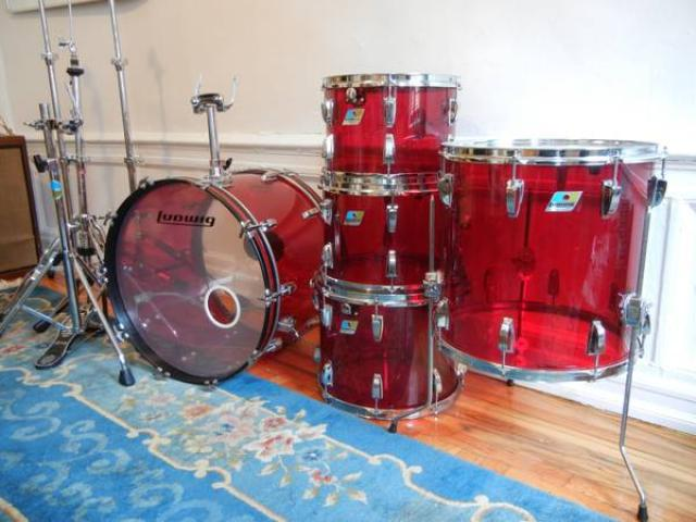LUDWIG VISTALITE DRUM SET FOR SALE   1970 S RARE COLOR    1850     LUDWIG VISTALITE DRUM SET FOR SALE   1970 S RARE COLOR    1850   WILLIAMSBURG  NYC