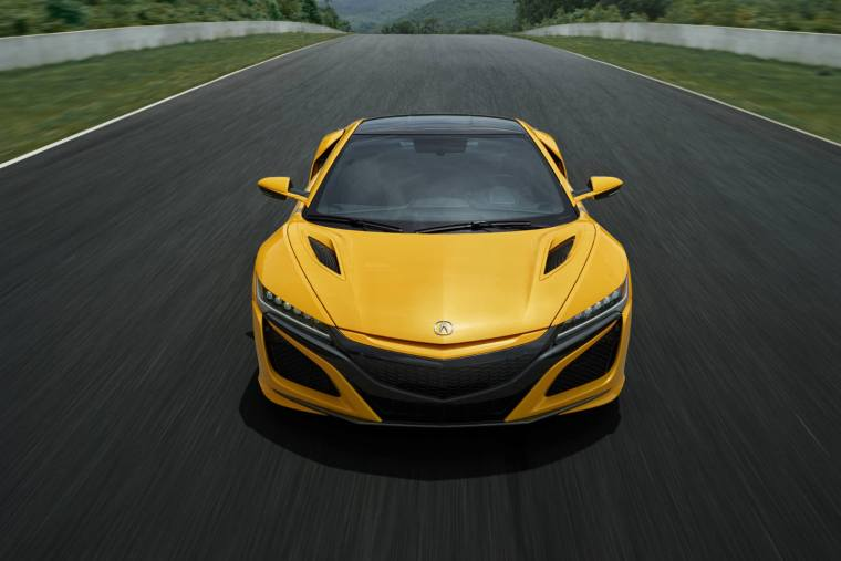 2020 Acura NSX in heritage Indy Yellow Pearl paint