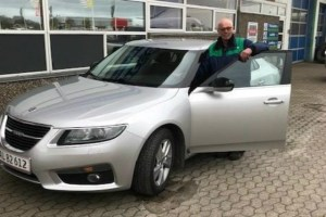 The last Saab, a 9-3 Aero Turbo4, sold at auction to Claus Spaangaard