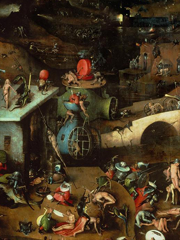 Hieronymus Bosch, Triptych of the Last Judgment (detail), 1504, Berlin.