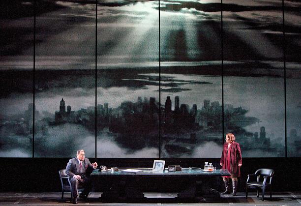 Die Walküre, Act II: Mark Delavan (Wotan) and Nina Stemme(Brünnhilde). Photo Cory Weaver.