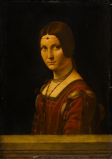 Fig. 3 Leonardo da Vinci (1452–1519),  Portrait of a Woman ('La Belle Ferronnière'), about 1493–4, oil on walnut, 63 x 45 cm, Musée du Louvre, Paris, Département des Peintures (778). © RMN / Franck Raux.