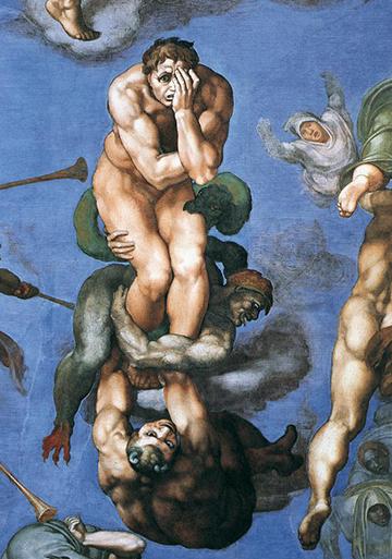 Michelangelo Buonarroti, Last Judgment: Damned Figure.