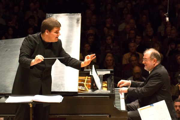Garrick Ohlsson with Andris Poga and the Boston Symphony Orchestra. Photo Stu Rosner.