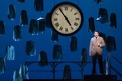 """4536 Christian Bowers as Clyde Griffiths in The Glimmerglass Festival's new production of Tobias Picker's """"An American Tragedy."""" Photo: Karli Cadel/The Glimmerglass Festival."""