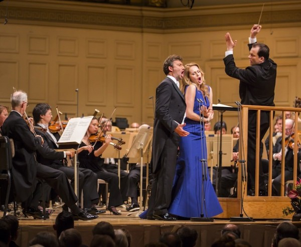 ndris Nelson conducts the Boston Symphony Orchestra in his ingural concert as music Director, 9/27/14. Photo Chris Lee.