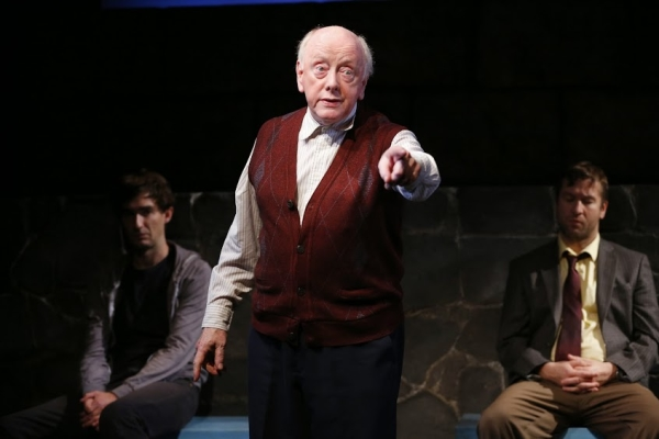 James Russell, Peter Maloney, and Billy Carter in Port Authority at the Irish Repertory Theatre