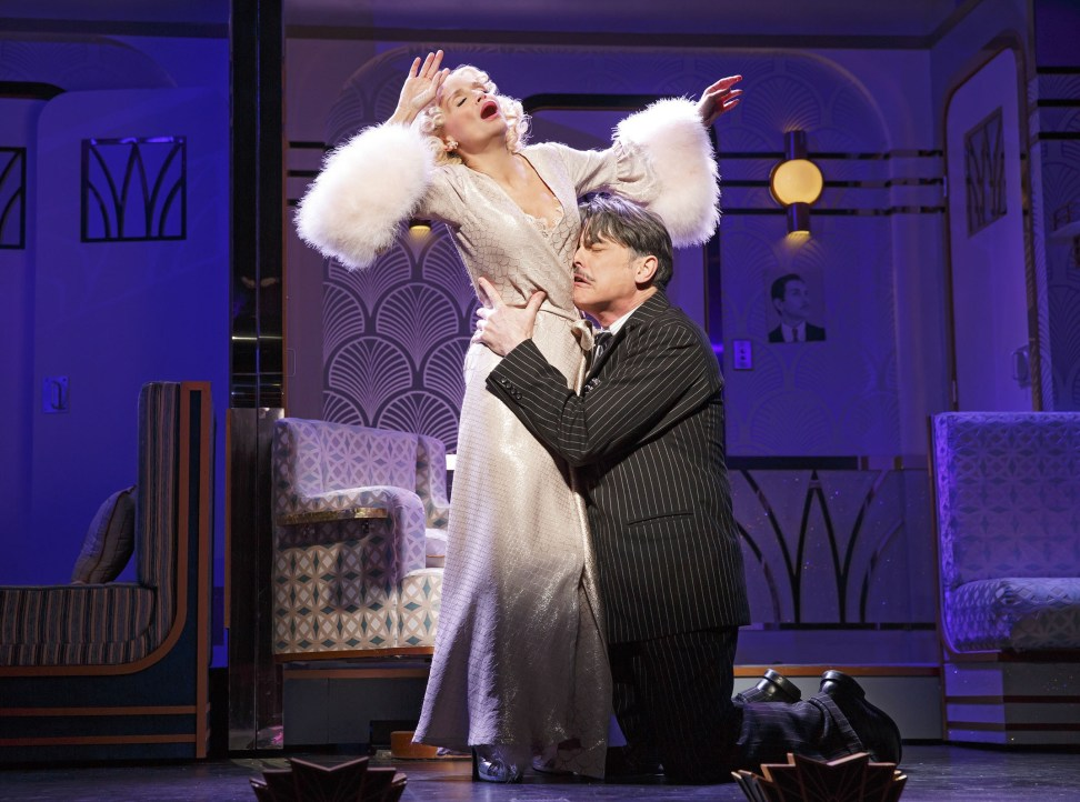 Kristen Chenoweth and Peter Gallagher in On the 20th Century. Photo 2015 Joan Marcus.