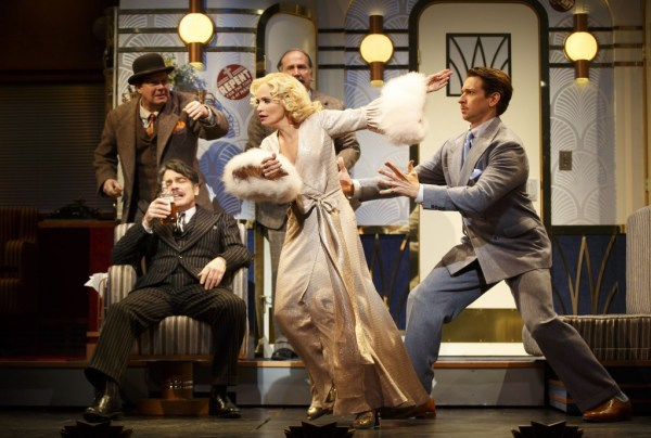 Kristin Chenoweth, Peter Gallagher, Andy Karl, Mark Linn-Baker, and Michael McGrath in On the 20th Century. Photo 2015 Joan Marcus.
