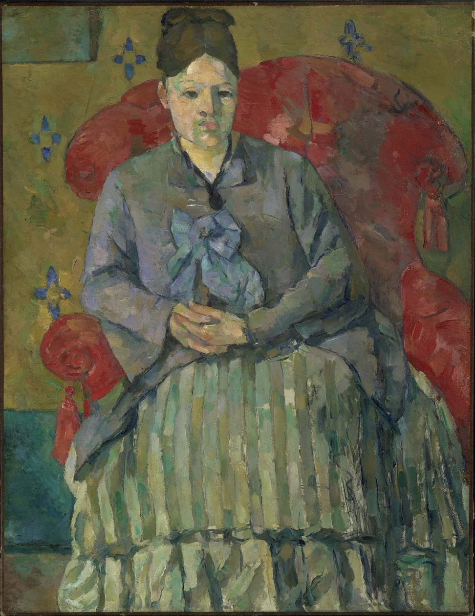 Paul Cézanne, Madame Cézanne in a Red Armchair, ca. 1877. Oil on canvas. Museum of Fine Arts Boston.