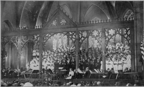 The Bethlehem Bach Choir Performing the B Minor Mass in 1917.