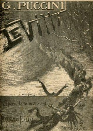 Poster for Puccini's Le Villi.