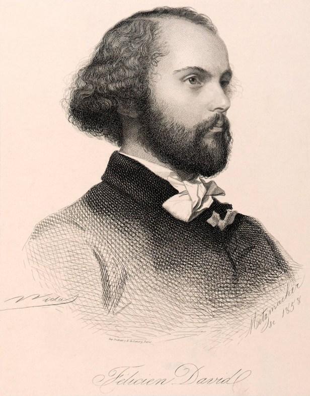 Émile Pierre Metzmacher. Portrait of Félicien David, 1858.