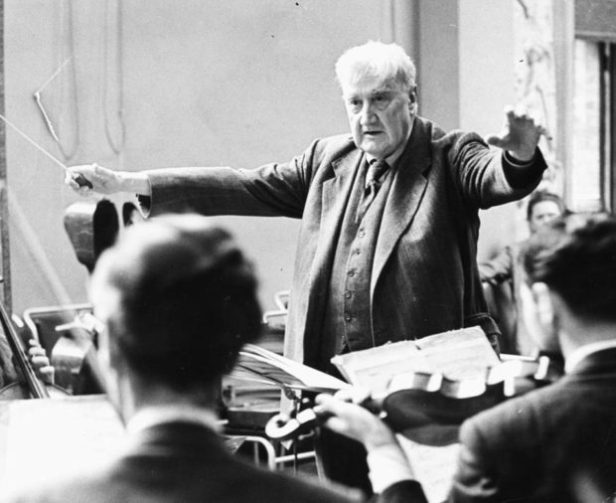 Ralph Vaughan Williams conducting