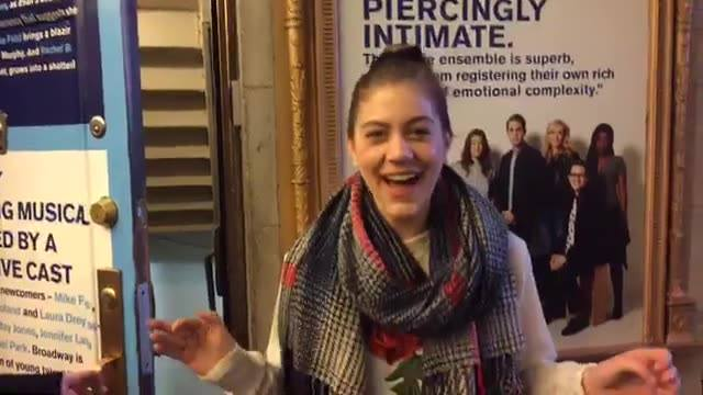 Extra was given a backstage and behind the scenes at one of Broadway's hottest new sh…