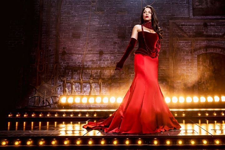 "Get a first look of Tony Award winner Karen Olivo in costume as ""Santine"" in Moulin R"