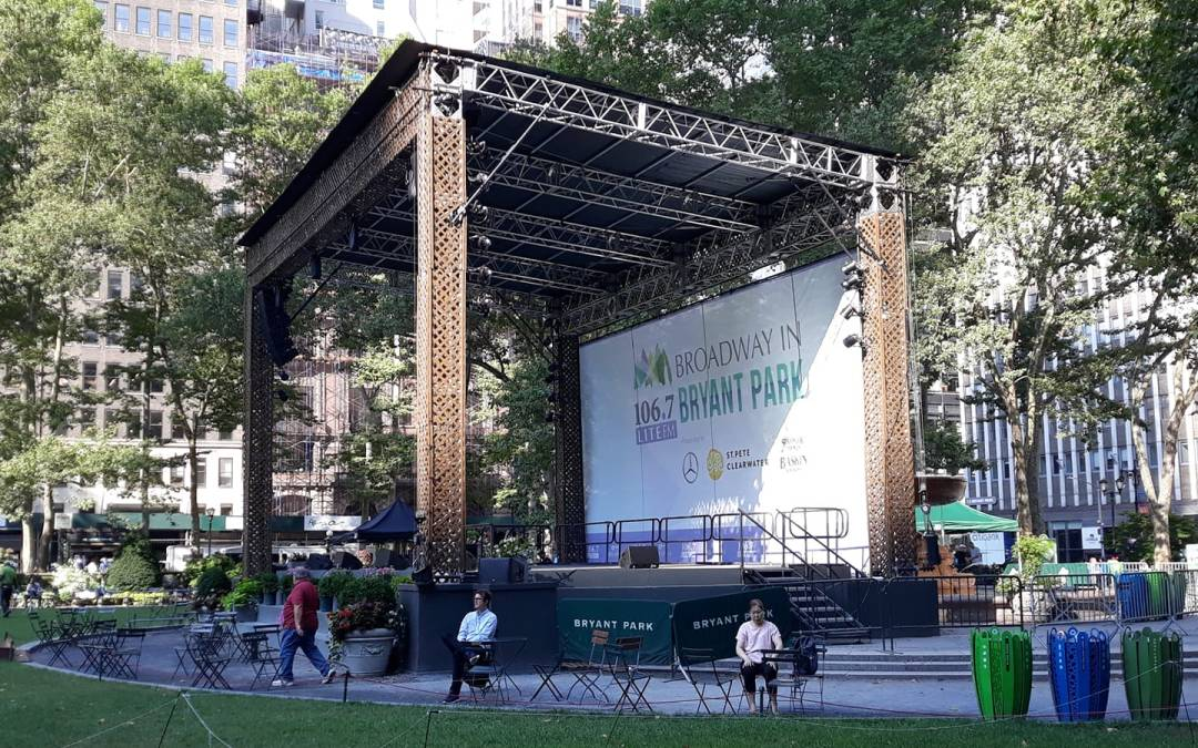 Here we go…. Week 1 of Broadway in Bryant Park 2019. Come early for a good spot. Sh