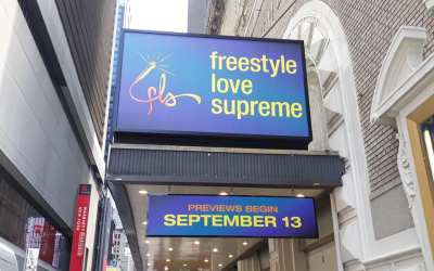 ON THE MARQUEE: LIGHTS UP on another Lin-Manuel Miranda hot ticket heading for THE GR