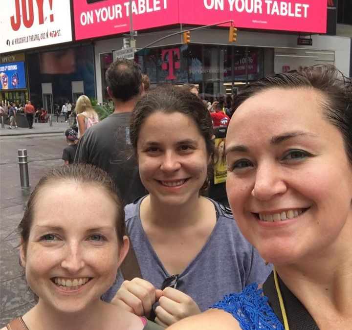 We had a fabulous Act 1 Broadway Walking Tour today! Bridget and her friend are seein