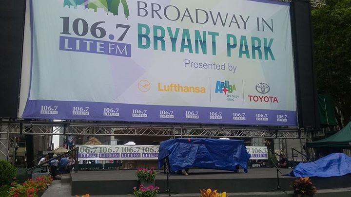 JOIN US!! 12:30PM for the kickoff performance of Broadway in Byant Park 2017!!!  #Bro…