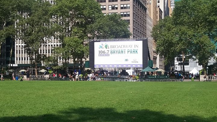 JOIN US for Day 6 and the conclusion of BROADWAY IN BRYANT PARK 2017 at 12:30pm.
