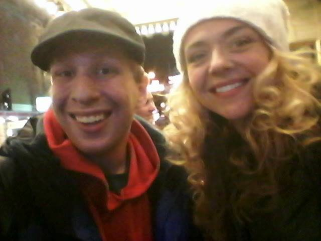 Michael with Tony winner Rachel Bay Jones after the revival of Pippin the Musical whi