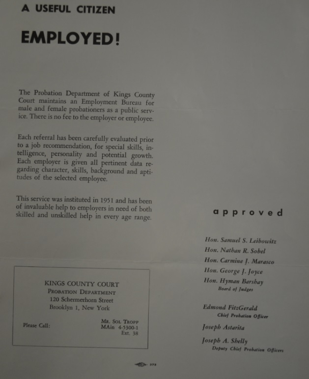 Employment Ad Kings County Court
