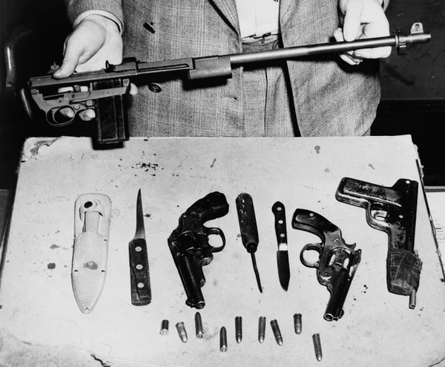 Comets Confiscated Weapons Stash 1949