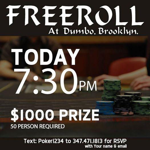 Freeroll Poker Tournament