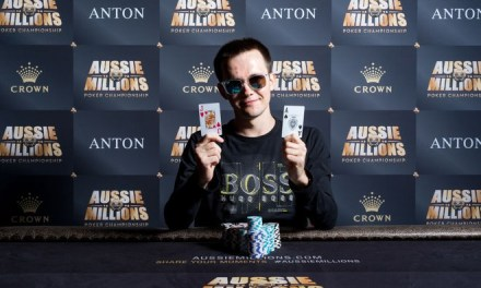 "Mikita ""fish2013"" Badziakouski Wins the Aussie Millions $50,000 Shot Clock for AUD$176,400"