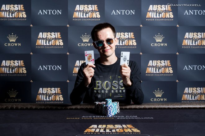 "Mikita ""fish2013"" Badziakouski Wins the Aussie Millions $50,000 Shot Clock for AUD$176,400"
