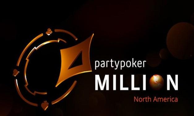 The partypoker MILLION North America Main Event Guarantees CA$5 Million