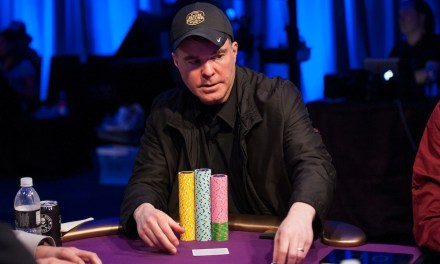 """Super High Roller Bowl: """"The Cary Bet"""" to his new table."""