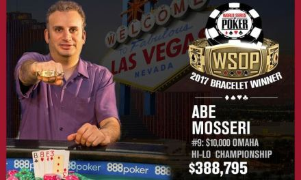 Abe Mosseri Wins 2017 World Series of Poker $10,000 Omaha Eight of Better Championship