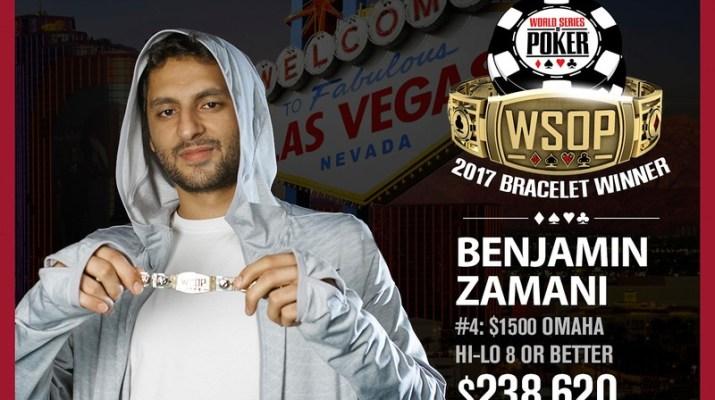 Ben Zamani Wins 2017 World Series of Poker $1,500 Omaha Eight-Or-Better Event