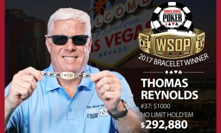 Thomas Reynolds Wins 2017 World Series of Poker $1,000 Buy-In No-Limit Hold'em Event