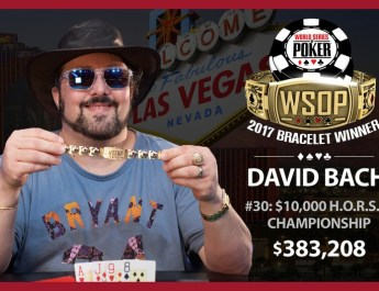 David Bach Wins Second Bracelet Of 2017 World Series of Poker