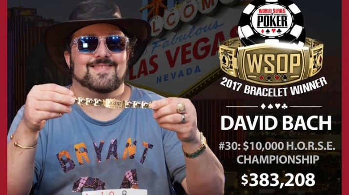 David Bach Wins Second Bracelet Of 2017 World Series of Poker