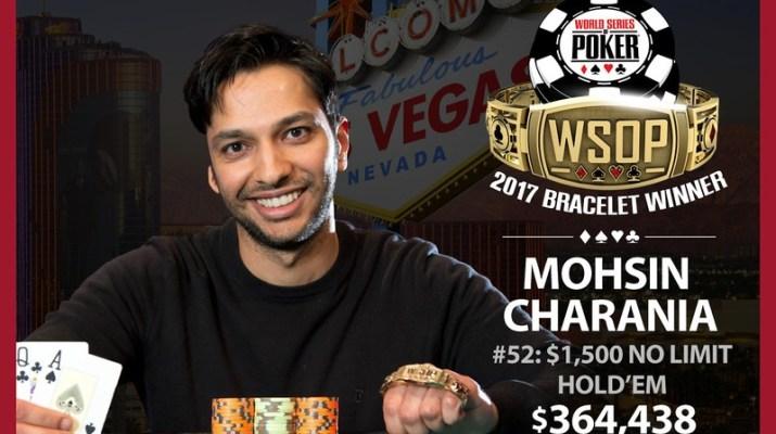 2017 WSOP: Mohsin Charania Wins Poker Triple Crown