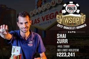 Shai Zurr Wins 2017 World Series of Poker $1,000 Limit Hold'em (30-Minute Levels) Event